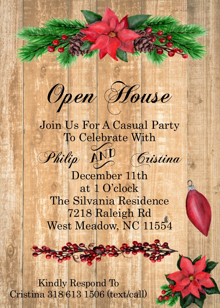 Wedding Open House Invitation Luxury Kids and Family Christmas Party Invitations New for 2017
