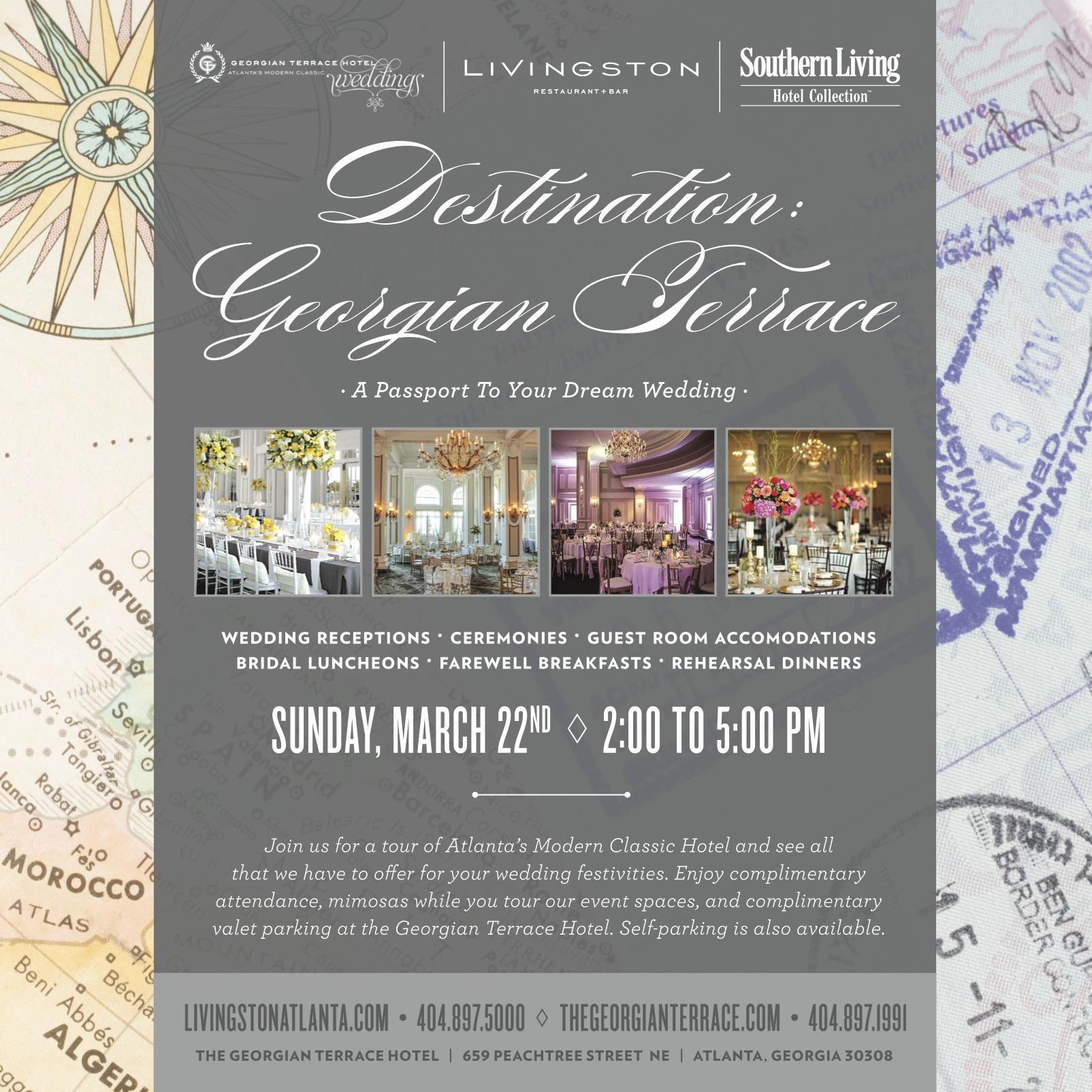 Wedding Open House Invitation Unique Wedding Venue Open House at Georgian Terrace In atlanta