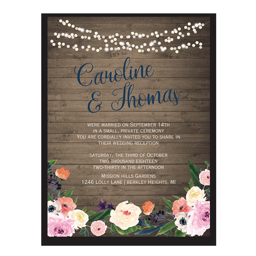 Wedding Reception Invitation Ideas Fresh Watercolor Floral Bohemian Wedding Reception Ly Invite