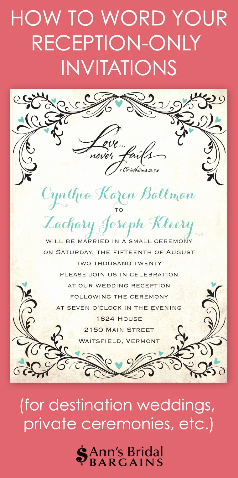 Wedding Reception Invitation Ideas Fresh whether You've Chosen to Have A Destination Wedding and A