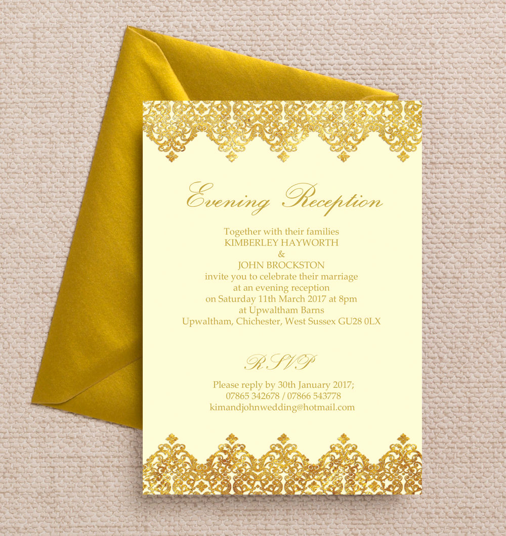 Wedding Reception Invitation Ideas Lovely top 10 Printable evening Wedding Reception Invitations