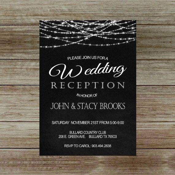 Wedding Reception Invitation Ideas New Best 25 Reception Only Invitations Ideas On Pinterest