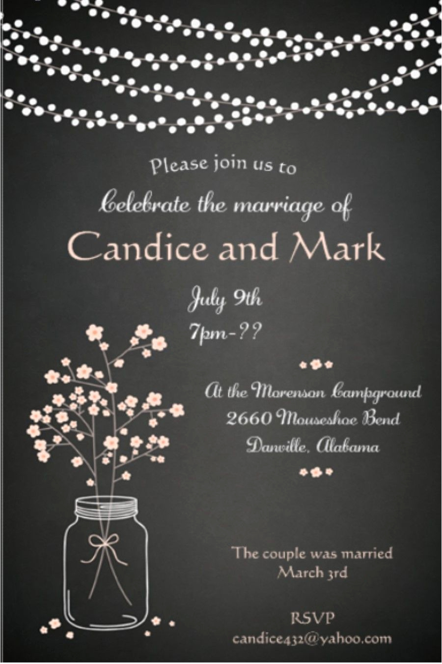 Wedding Reception Invitation Ideas Unique after the Wedding Party Invitations or Elopement Party