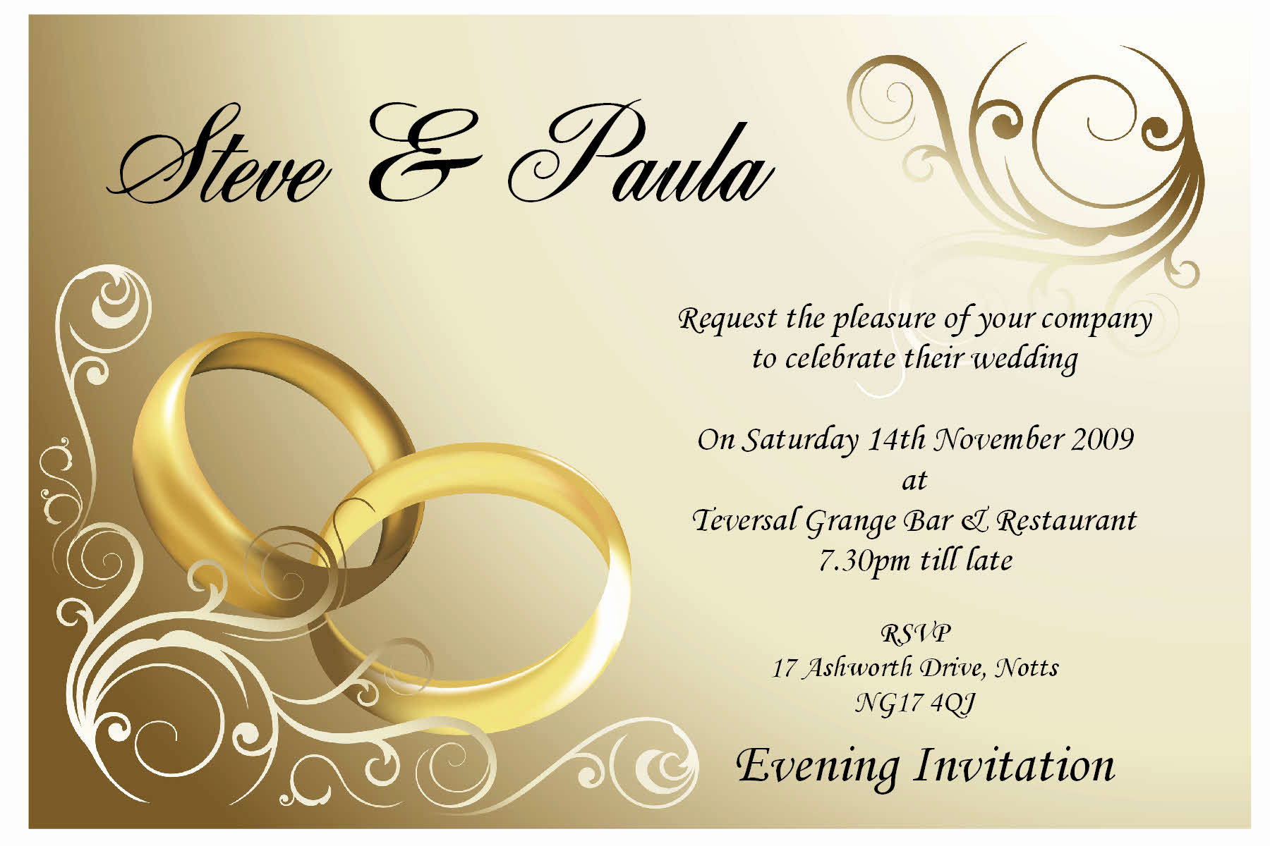 Wedding Reception Invitation Templates Elegant Wedding Invitations Clearprintsdigital