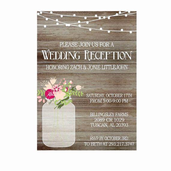 Wedding Reception Invitation Templates Fresh 1000 Ideeën Over Wedding Reception Invitation Wording Op