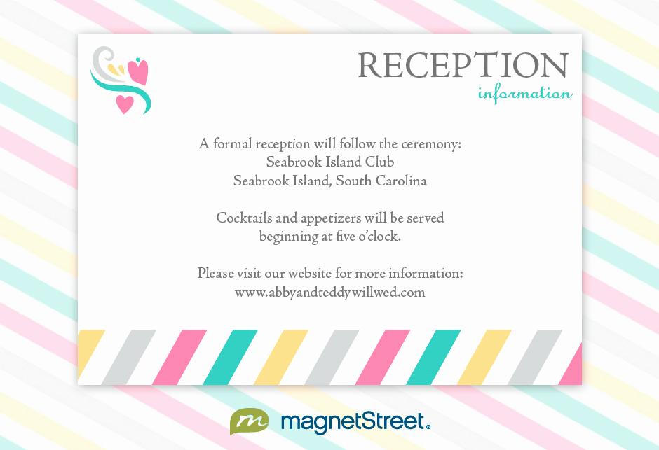 Wedding Reception Invitation Templates Luxury Reception Invitation Wording