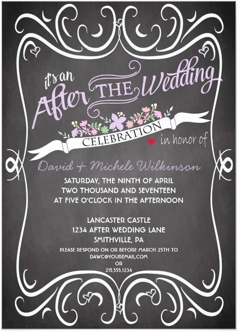 Wedding Reception Invitation Wording Awesome after Wedding Party Invitation Wording Cobypic