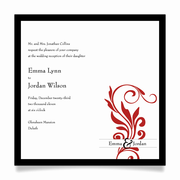 Wedding Reception Invitation Wording Awesome Invitation Wording for Reception Ly Samples