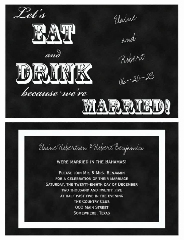 Wedding Reception Invitation Wording Best Of 21 Beautiful at Home Wedding Reception Invitations