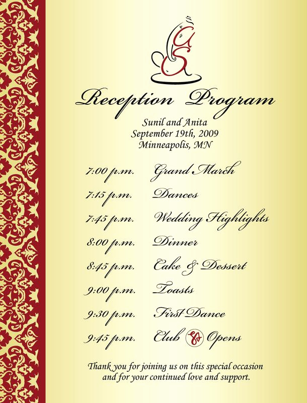 Wedding Reception Invitation Wording Samples Awesome Best 25 Wedding Reception Program Ideas On Pinterest