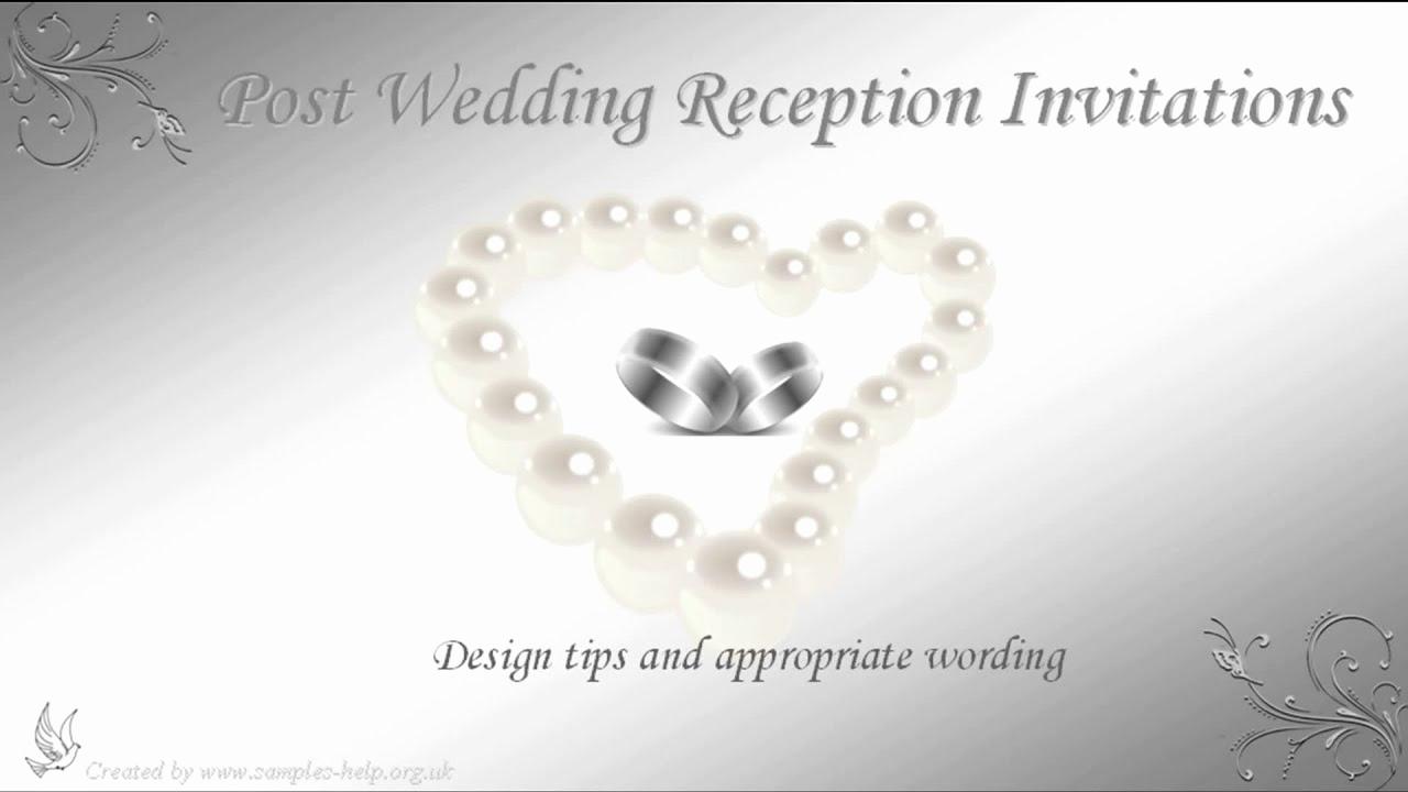 Wedding Reception Invitation Wording Samples Elegant Post Wedding Reception Invitation Wording
