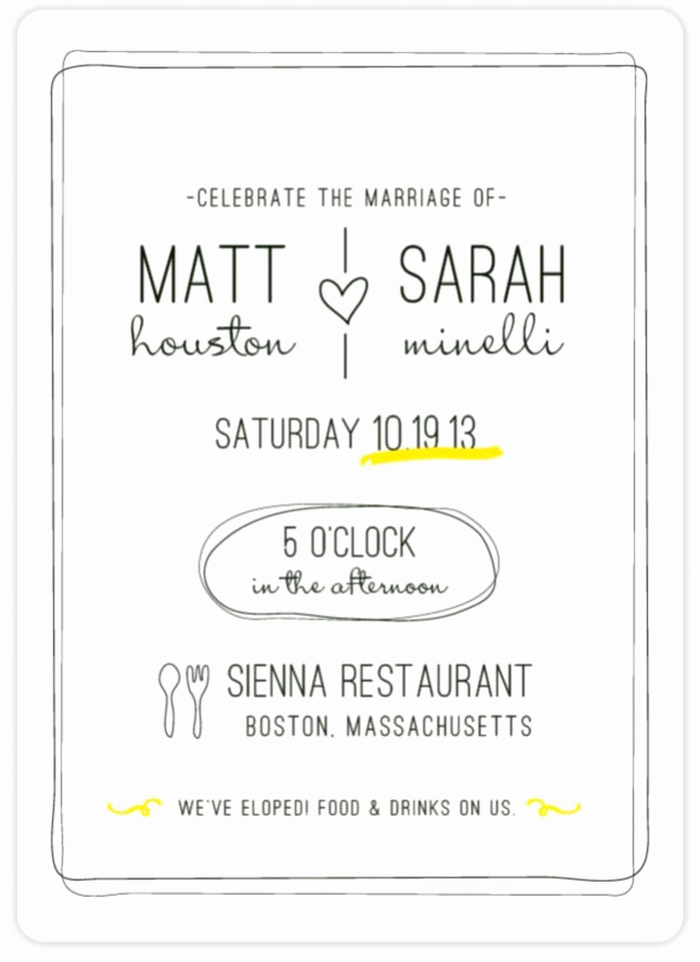 Wedding Reception Invitation Wording Samples Lovely Elopement Announcement Wording Private Ceremony