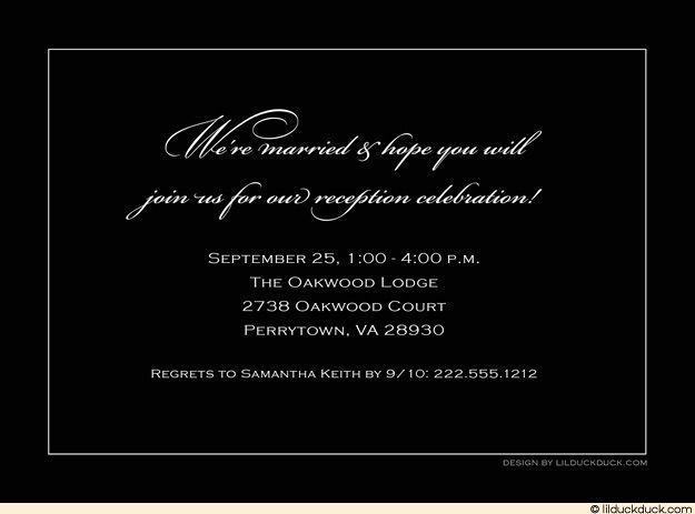 Wedding Reception Invitation Wording Unique Reception Invitations