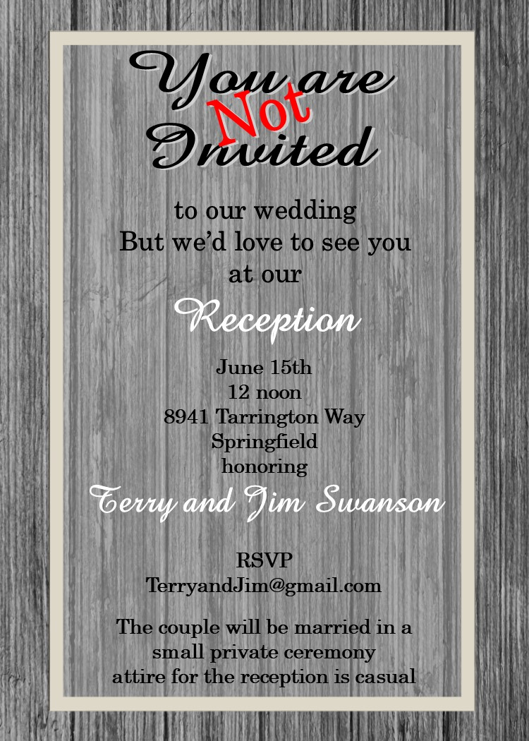 Wedding Reception Only Invitation Wording Awesome Elopement Party Invitations Reception Ly Invitations