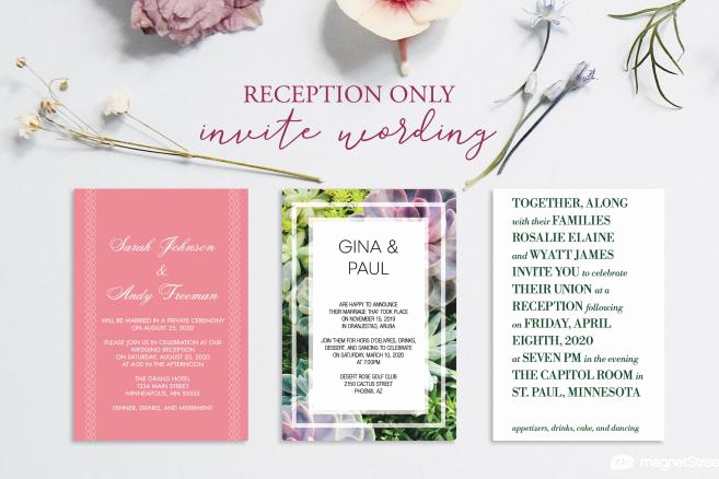 Wedding Reception Only Invitation Wording Beautiful Magnetstreet Wedding Blog