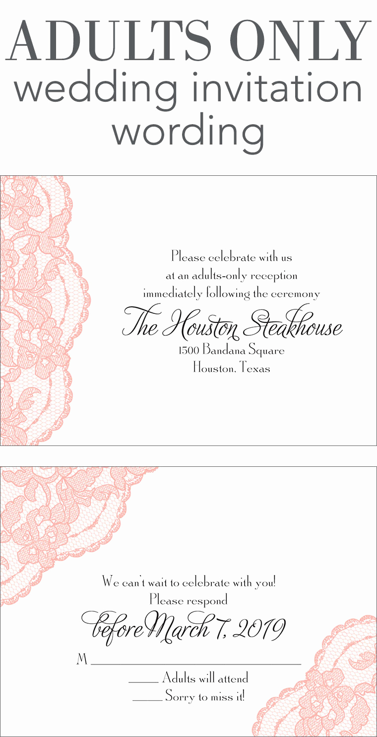 Wedding Reception Only Invitation Wording Inspirational Adults Ly Wedding Invitation Wording
