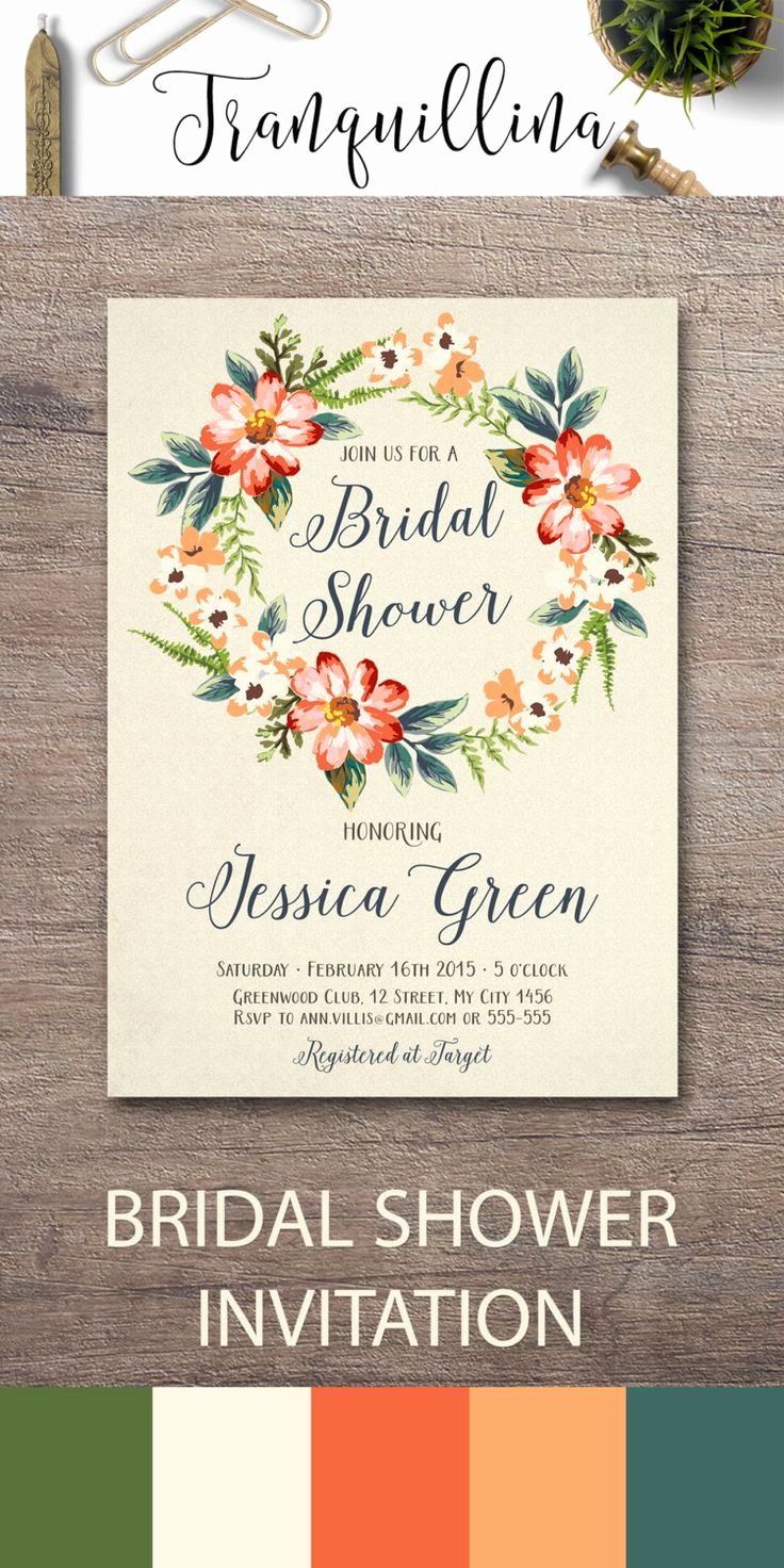 Wedding Shower Invitation Ideas Awesome Best 25 Bridal Shower Fall Ideas On Pinterest