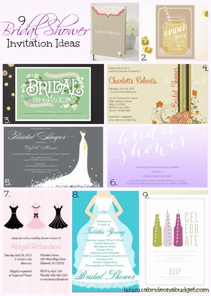 Wedding Shower Invitation Ideas Best Of Bridal Shower Invitation Ideas