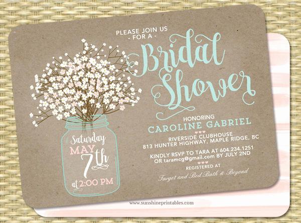 Wedding Shower Invitation Ideas Elegant 43 Bridal Shower Invitation Examples Word Psd Ai Eps
