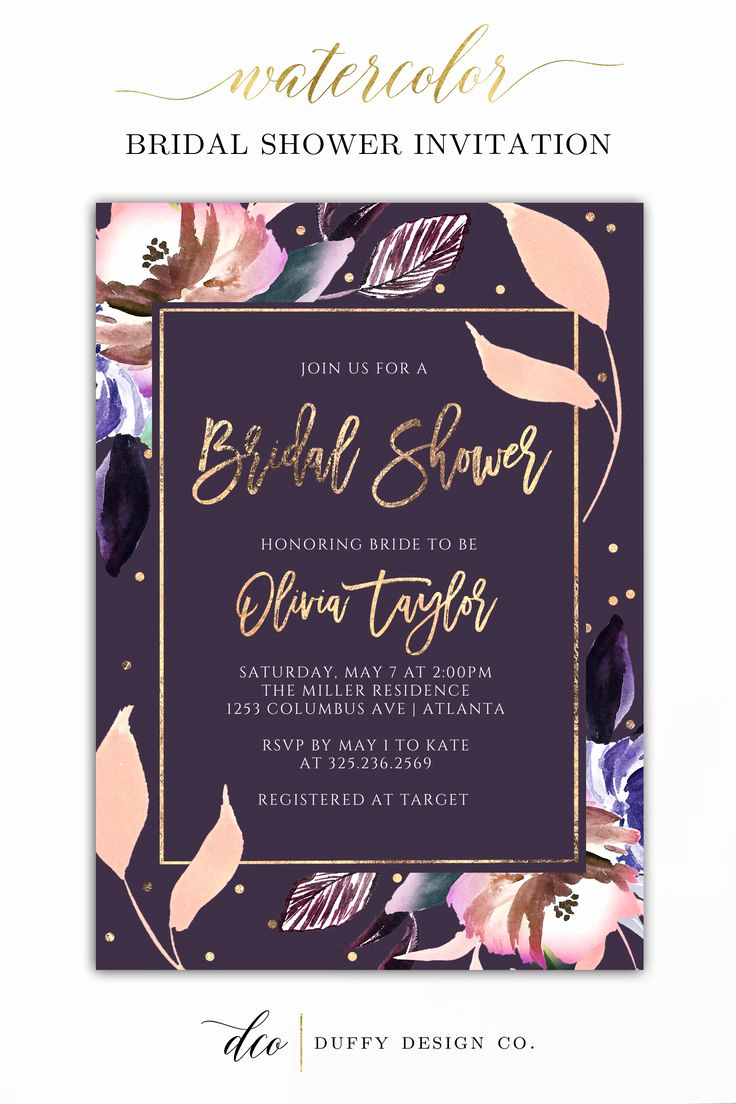 Wedding Shower Invitation Ideas Elegant Best 20 Purple Bridal Showers Ideas On Pinterest