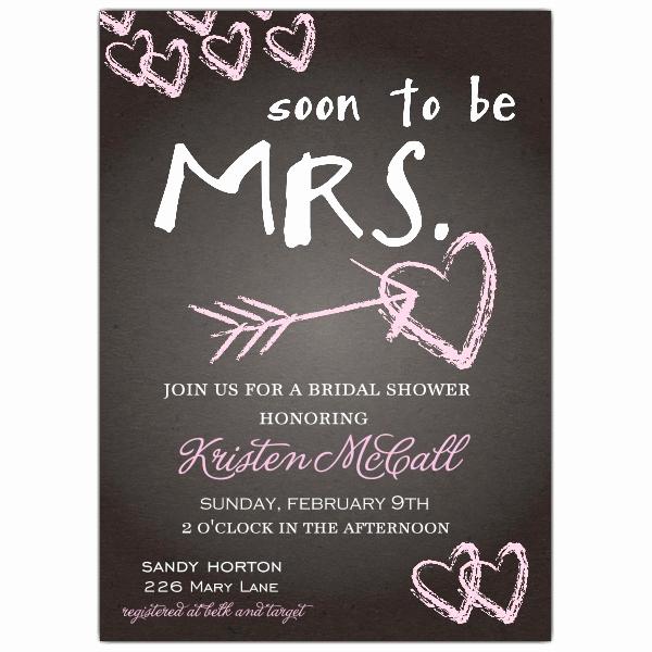Wedding Shower Invitation Ideas Fresh Chalkboard Love Bridal Shower Invitations