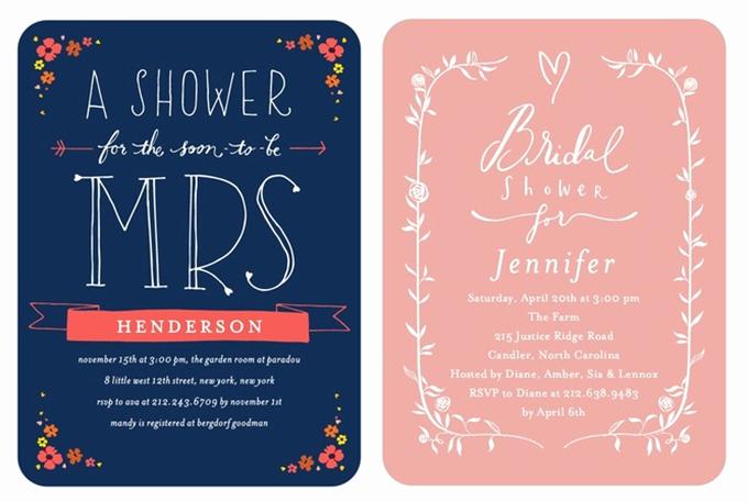Wedding Shower Invitation Ideas New Bridal Shower Invitations From Wedding Paper Divas