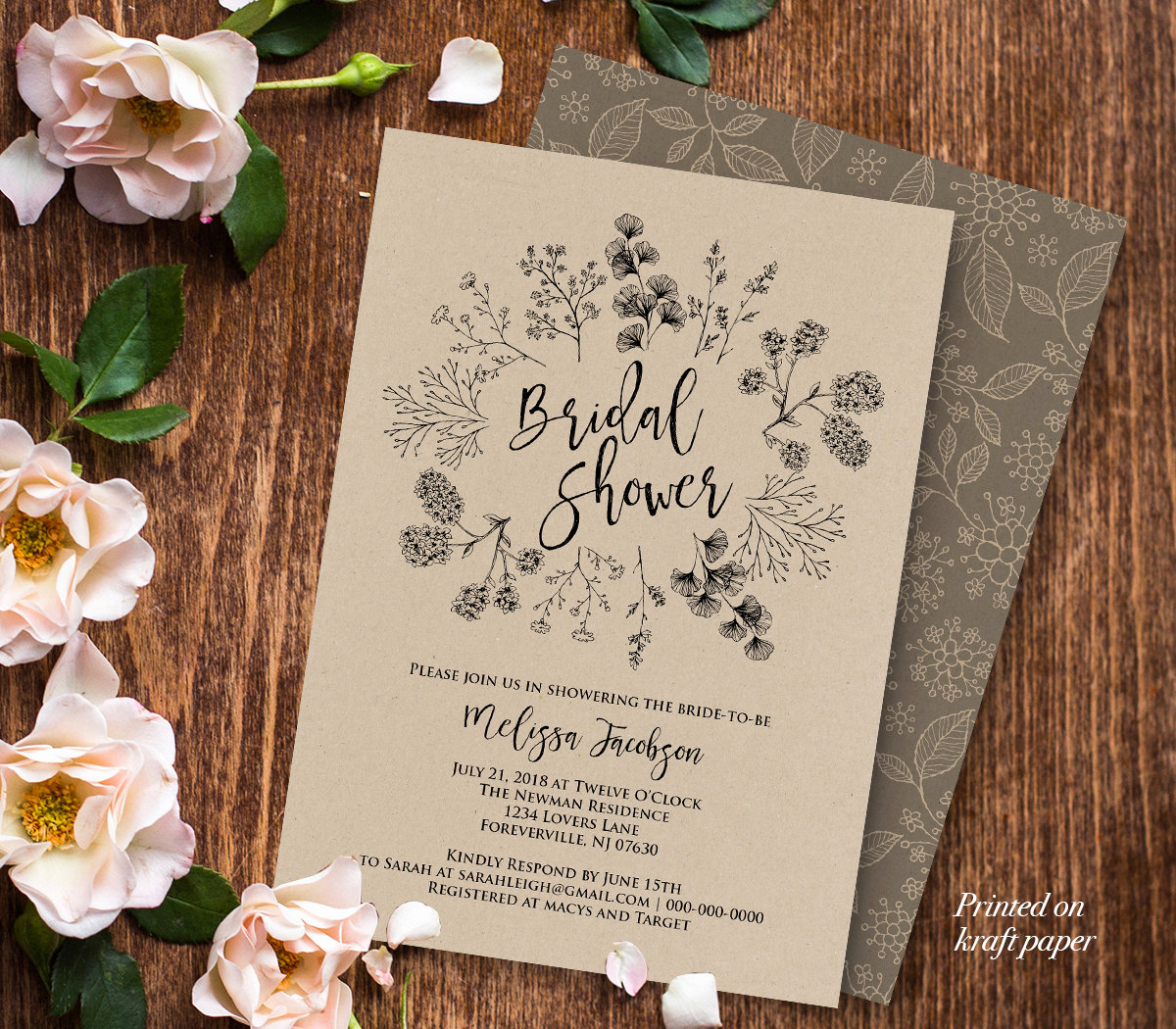 Wedding Shower Invitation Template Beautiful Rustic Bridal Shower Invitation Template Wedding Shower