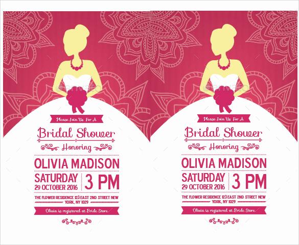Wedding Shower Invitation Template Best Of Free 37 Best Bridal Shower Invitation Templates In