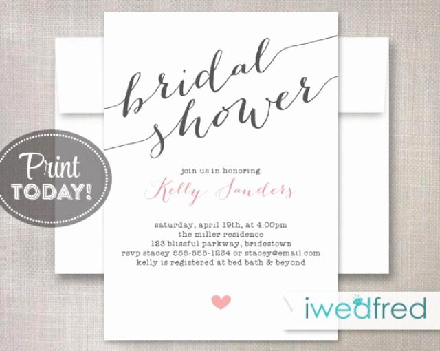 Wedding Shower Invitation Template Elegant Bridal Shower Invitation Bridal Shower Invitation