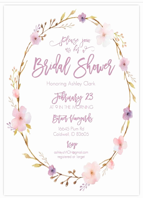 Wedding Shower Invitation Template Fresh 13 Free Printable Bridal Shower Invitations with Style