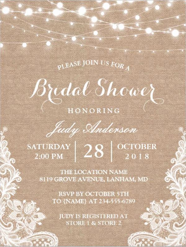 Wedding Shower Invitation Template Fresh 26 Free Bridal Shower Invitations Psd Eps