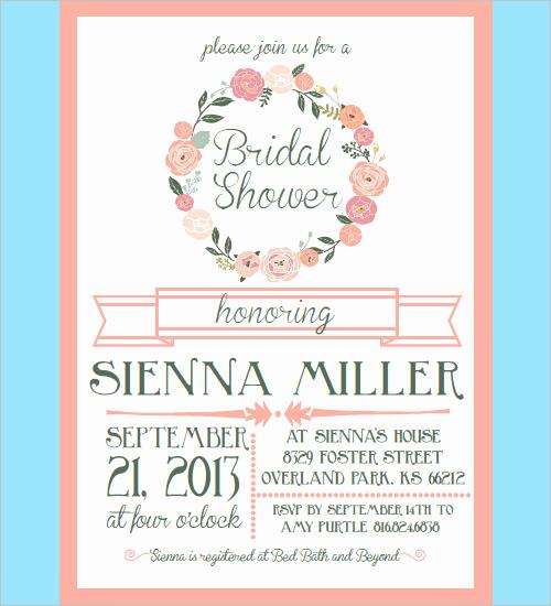 Wedding Shower Invitation Template Inspirational 33 Psd Bridal Shower Invitations Templates