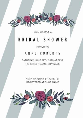 Wedding Shower Invitation Template Inspirational Customize Over 200 Bridal Shower Invitation Templates