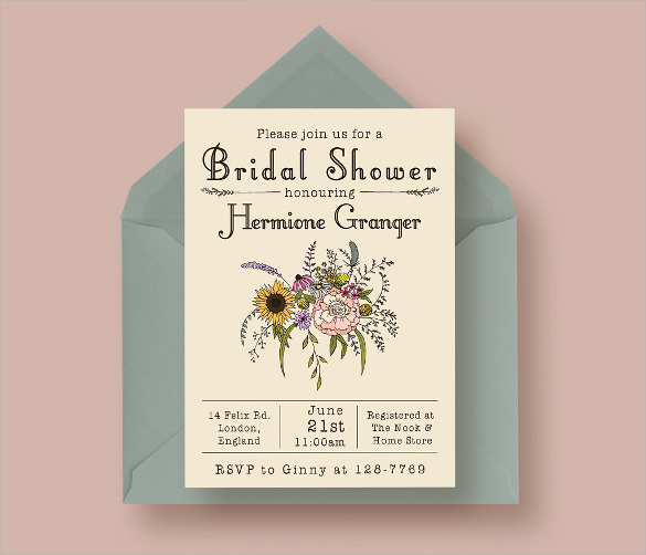 Wedding Shower Invitation Template New 25 Bridal Shower Invitation Templates Download Free