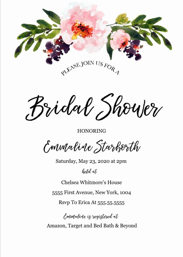 Wedding Shower Invitation Template Unique Print Free Wedding Shower Invitation Template