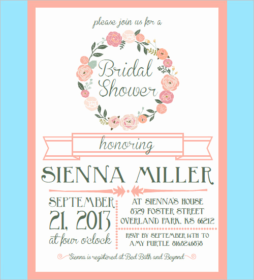 Wedding Shower Invitation Templates Elegant 33 Psd Bridal Shower Invitations Templates