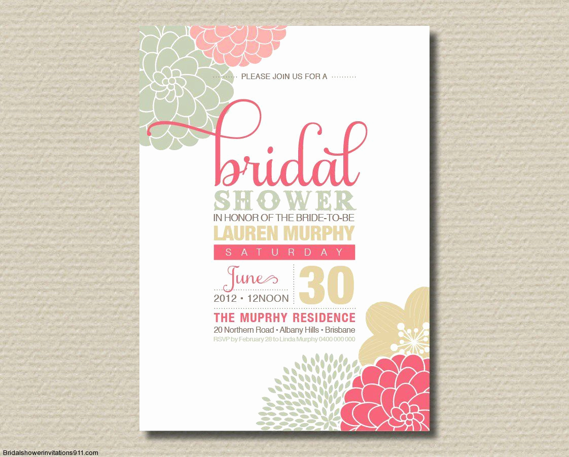 Wedding Shower Invitation Templates Elegant Bridal Shower Invitation Wording for Shipping Ts