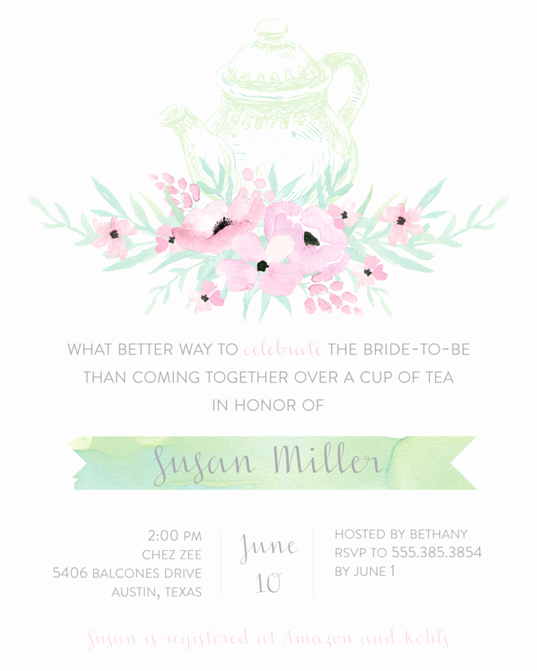 Wedding Shower Invitation Templates Fresh Bridal Shower Invitation Wording Ideas and Etiquette