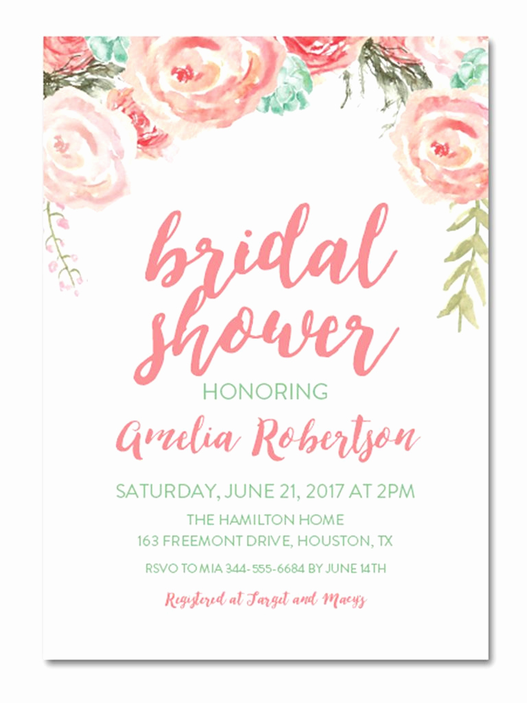 Wedding Shower Invitation Templates Fresh Printable Bridal Shower Invitations You Can Diy