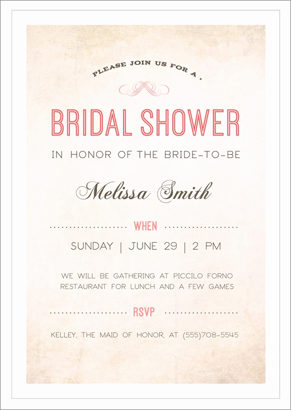 Wedding Shower Invitation Templates Inspirational Free 37 Best Bridal Shower Invitation Templates In