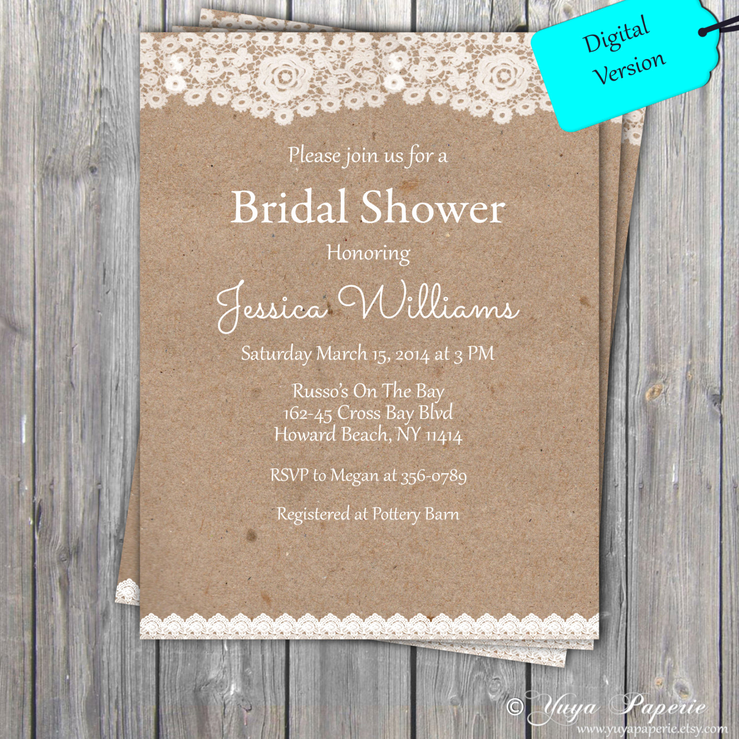 Wedding Shower Invitation Templates Lovely Lace Rustic Bridal Shower Invitation Adult Party Invitation