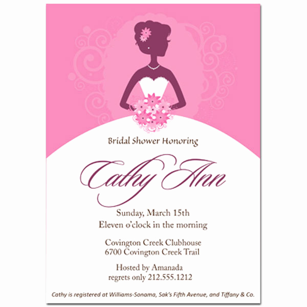 Wedding Shower Invitation Templates Unique Beautiful Bride Bridal Shower Invitation