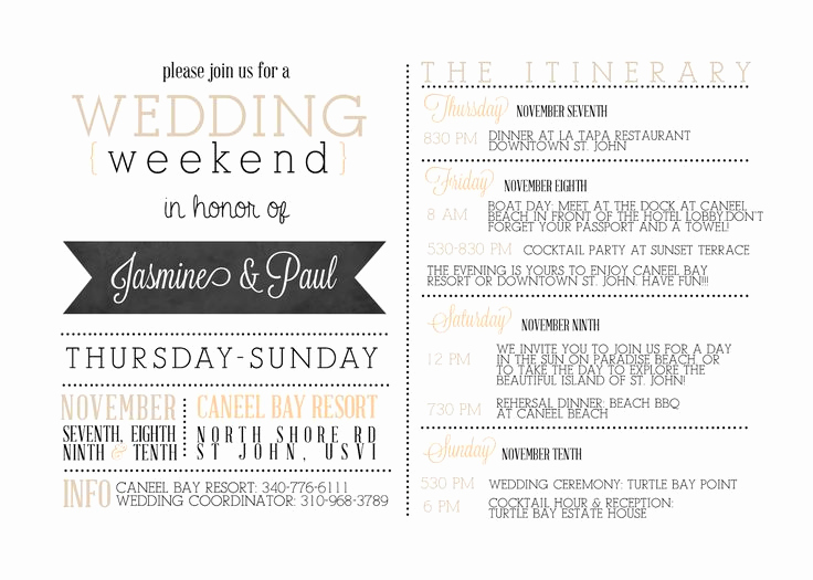 Wedding Weekend Invitation Wording Beautiful Best 25 Wedding Weekend Itinerary Ideas On Pinterest