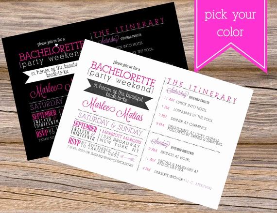 Wedding Weekend Invitation Wording Best Of Bachelorette Party Weekend Wedding Invitation Diy by
