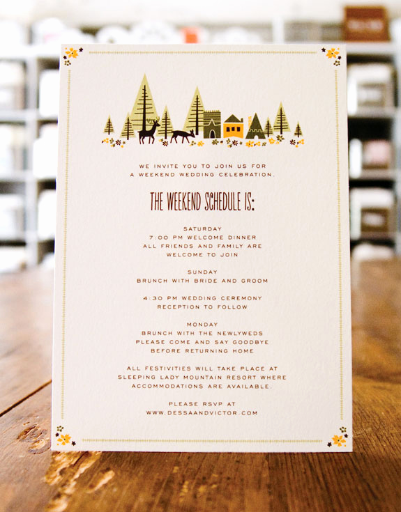 Wedding Weekend Invitation Wording Inspirational Wedding Stationery Inspiration Day Of Itineraries
