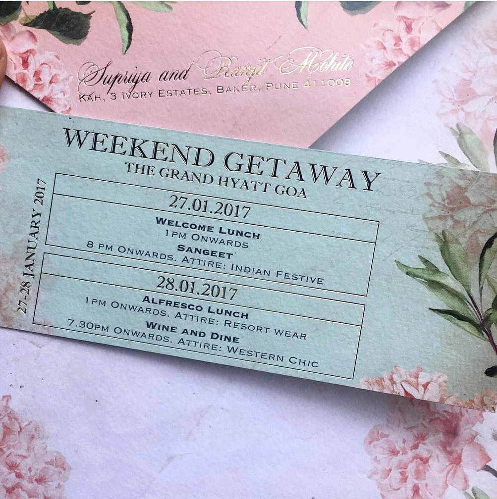 Wedding Weekend Invitation Wording Lovely 20 Unique & Creative Wedding Invitation Ideas for Your