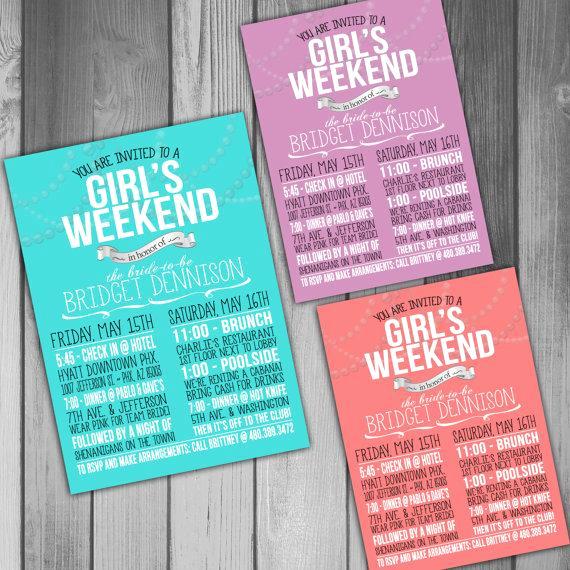Wedding Weekend Invitation Wording Lovely Bachelorette Invitation Bachelorette Weekend Bachelorette