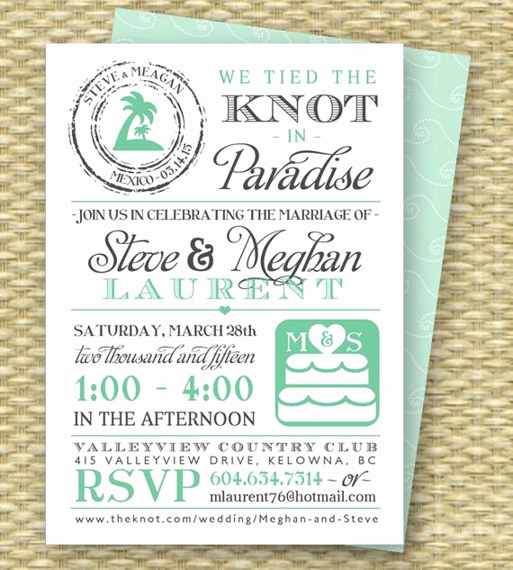 Wedding Welcome Party Invitation Inspirational Destination Wedding Invitation Post Destination Wedding