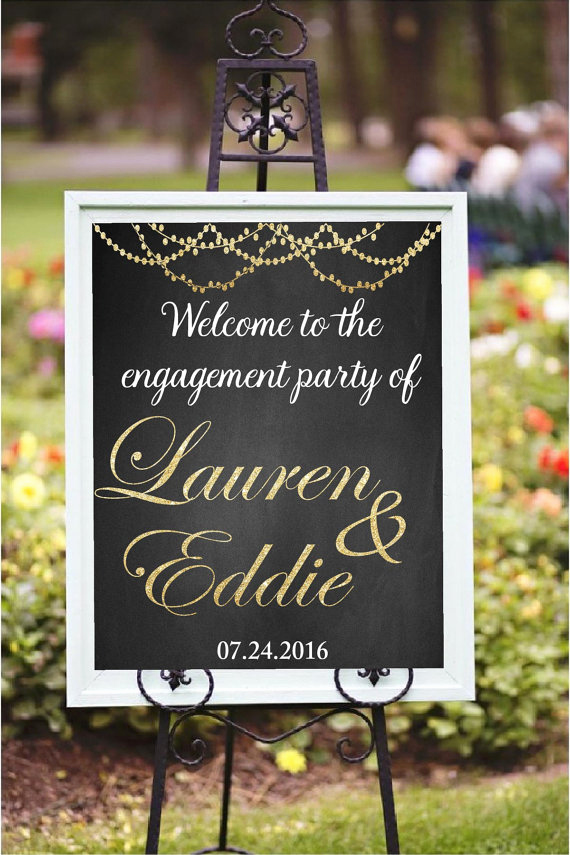 Wedding Welcome Party Invitation Inspirational Engagement Party Decor Diy Printable Wel E to the
