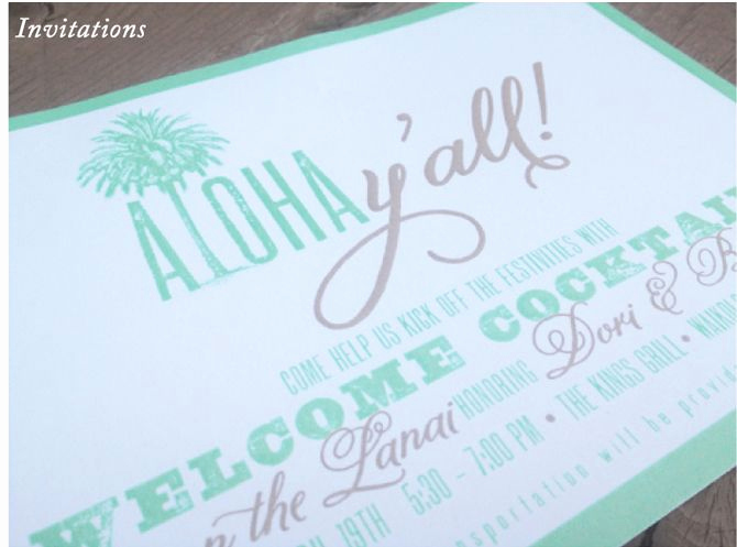Wedding Welcome Party Invitation Lovely Hawaiian Destination Wedding Wel E Party Invitations I